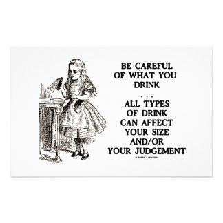 Wonderland Be Careful What You Drink (Alice) Customized Stationery
