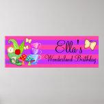 Wonderland Birthday Banner Poster