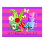 Wonderland Birthday Postcard