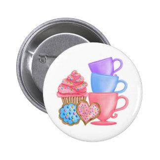 Wonderland  Birthday Tea Party 6 Cm Round Badge