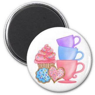 Wonderland  Birthday Tea Party 6 Cm Round Magnet