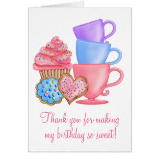 Wonderland  Birthday Tea Party Stationery Note Card