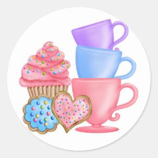 Wonderland  Birthday Tea Party Round Sticker