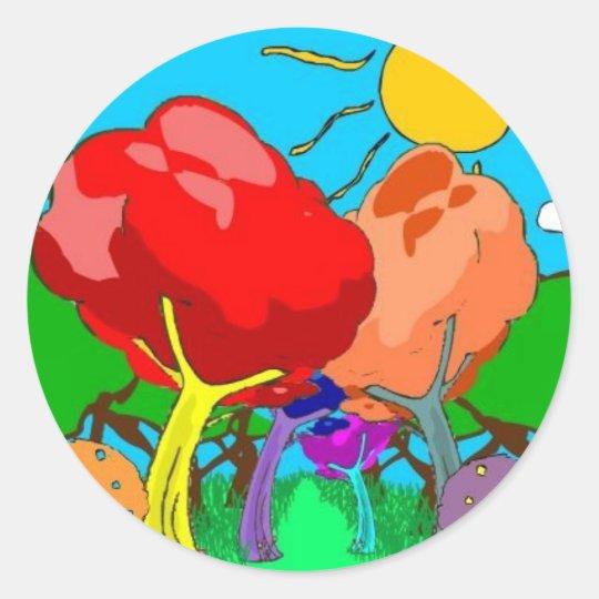 wonderland classic round sticker