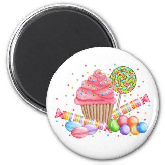 Wonderland Cupcake Candy Lollipop Sweet Tarts 6 Cm Round Magnet