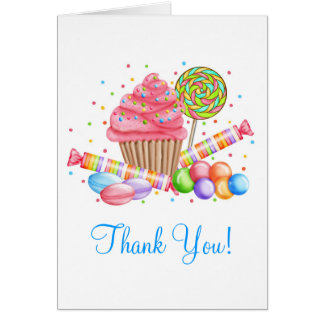 Wonderland Cupcake Candy Lollipop Sweet Tarts Card