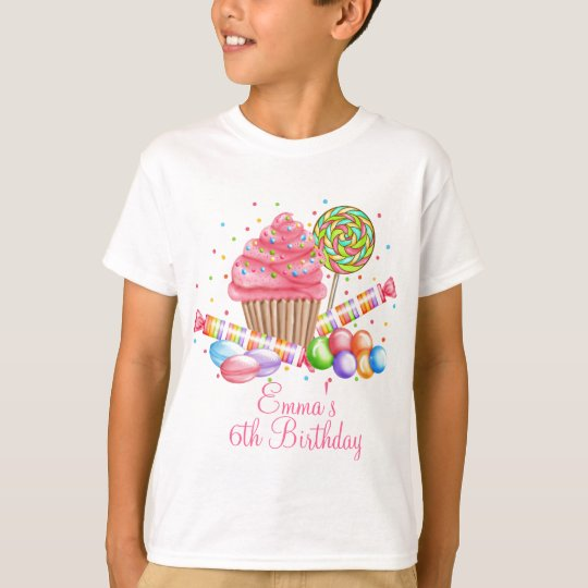 Wonderland Cupcake Candy Lollipop Sweet Tarts T-Shirt