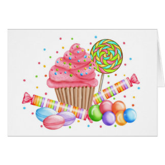 Wonderland Cupcake Notecard