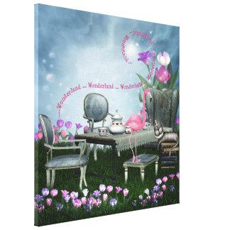 Wonderland Flamingo & Cheshire Cat Canvas
