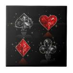 Wonderland Jewel Card Suits Ceramic Tile