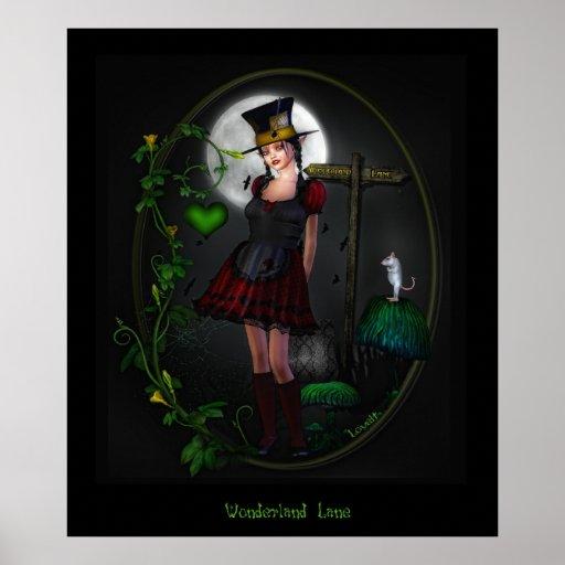 Wonderland lane poster