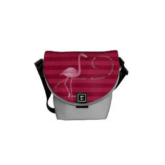 Wonderland Pink Flamingo Messenger Bag