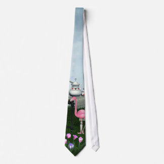 Wonderland Pink Flamingo Tea Party Tie