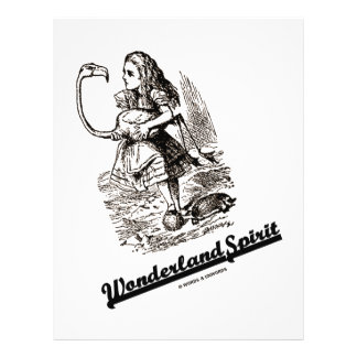 Wonderland Spirit (Alice & Her Flamingo) 21.5 Cm X 28 Cm Flyer