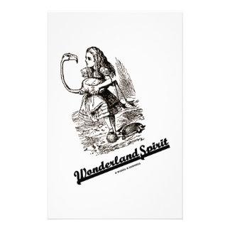 Wonderland Spirit (Alice & Her Flamingo) Customized Stationery