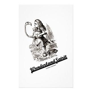 Wonderland Spirit (Alice & Her Flamingo) Stationery