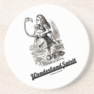 Wonderland Spirit (Alice In Wonderland Flamingo) Sandstone Coaster