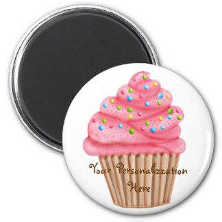 Wonderland Sprinkles Cupcake 6 Cm Round Magnet