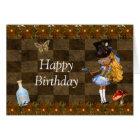 Wonderland Steampunk Birthday Party Card