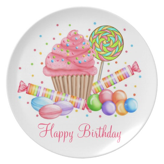 Wonderland Sweets Birthday Plate