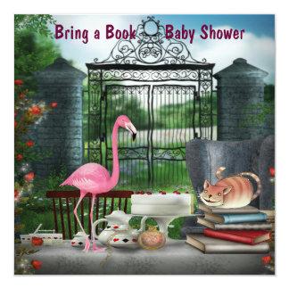 Wonderland Tea Party Bring A Book Baby Shower 13 Cm X 13 Cm Square Invitation Card