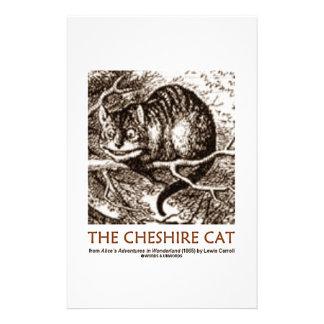 Wonderland The Cheshire Cat Personalised Stationery