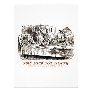 Wonderland The Mad Tea Party Flyer Design