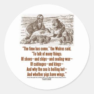 Wonderland Time Has Come Through Looking Glass Round Sticker