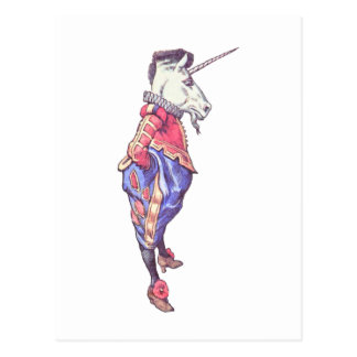 Wonderland Unicorn Postcard