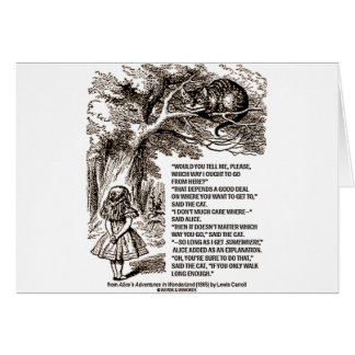Wonderland Which Way I Ought To Go Quote Cards