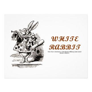 Wonderland White Rabbit Custom Flyer