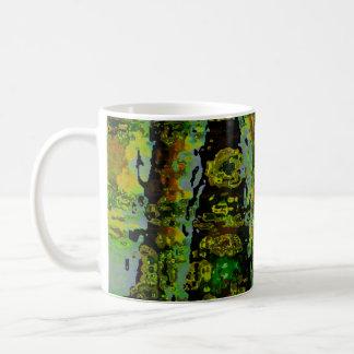 Wonderlands - Dark Green Lagoons Basic White Mug