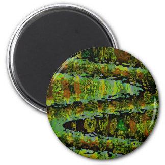 Wonderlands - Dark Green Lagoons Refrigerator Magnets