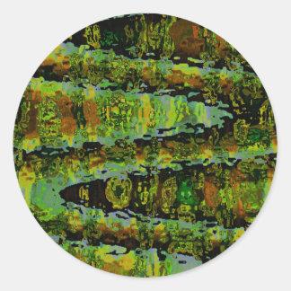 Wonderlands - Dark Green Lagoons Sticker
