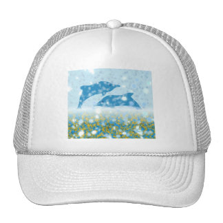Wonderous Dolphins In The Sparkling Mystical Sea Cap