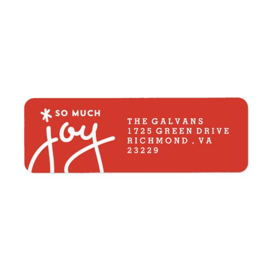 Wonderous Joy Address Label