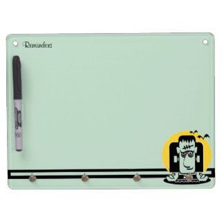 Wonderous Monster Dry Erase Board With Key Ring Holder