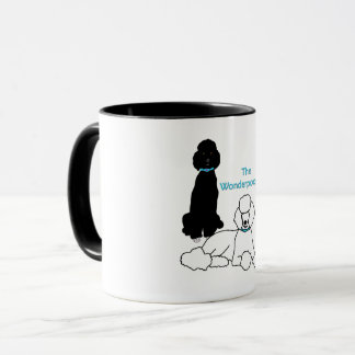 Wonderpoodles Mug with coloured handle