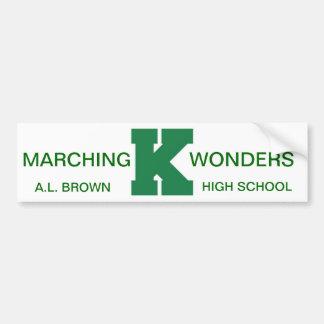 Wonders Marching Band Pride Bumper Sticker