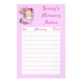 Wonky Happy Birthday Girl 1 Year Old Binder Stationery Design