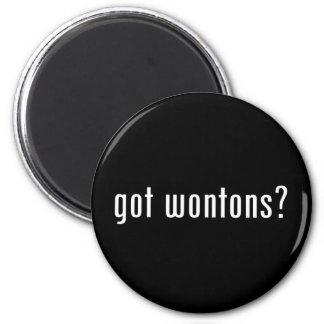 wonton 6 cm round magnet