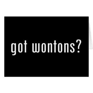 wonton greeting card