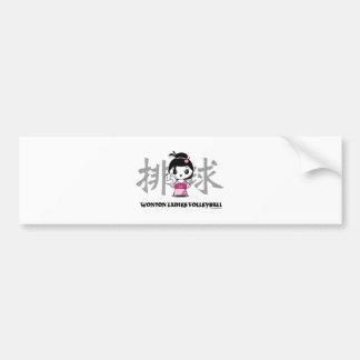 Wonton Ladies Volleyball Bumper Sticker