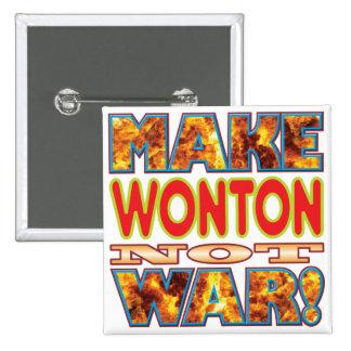 Wonton Make X 15 Cm Square Badge