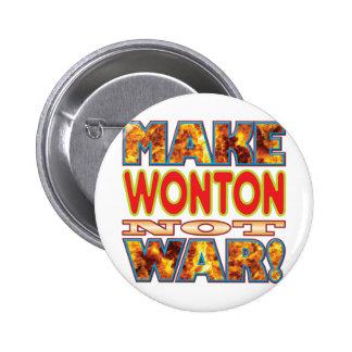 Wonton Make X 6 Cm Round Badge