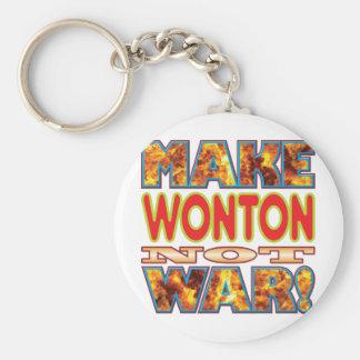 Wonton Make X Basic Round Button Key Ring