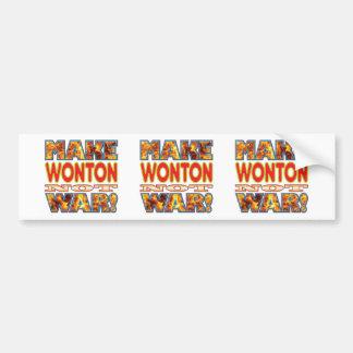 Wonton Make X Bumper Sticker