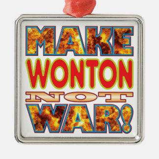 Wonton Make X Silver-Colored Square Decoration