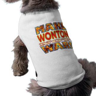 Wonton Make X Sleeveless Dog Shirt