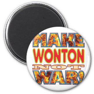 Wonton Make X 6 Cm Round Magnet
